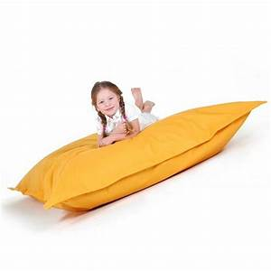 Coussin Exterieur Pas Cher : pouf g ant xxl coussin de sol 140x180 cm jaune achat ~ Premium-room.com Idées de Décoration