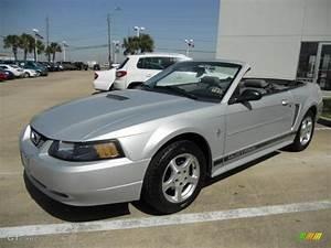 Satin Silver Metallic 2002 Ford Mustang V6 Convertible Exterior Photo #46067479 | GTCarLot.com