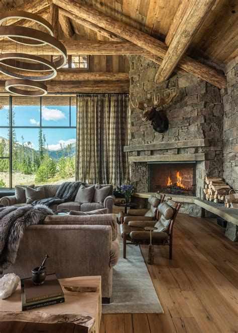 extremely cozy  rustic cabin style living rooms  design ideas