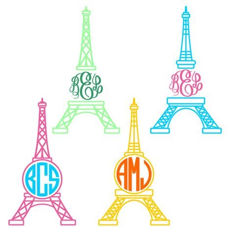 paris eiffel tower svg cuttable frame