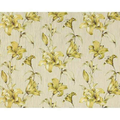 papier peint haut de gamme papier peint fleurs intiss 233 haut de gamme relief palpable edem 978 32 floral de lis vert clair