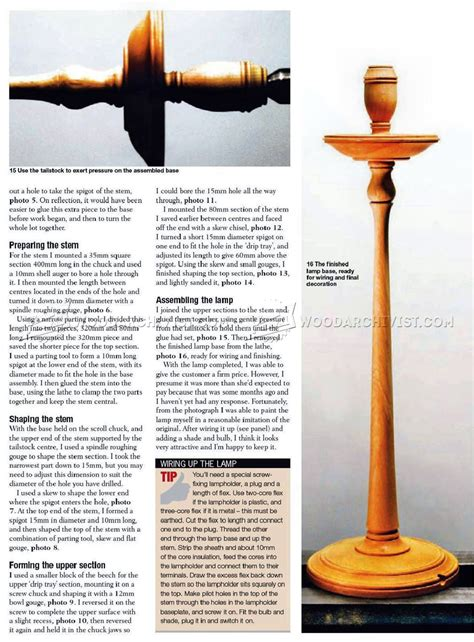 wooden table lamp woodturning projects woodarchivist