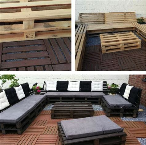 diy outdoor pallet patio furniturecraft like this