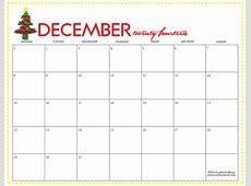 Festive December 2017 Printable Calendar 2018 Calendar