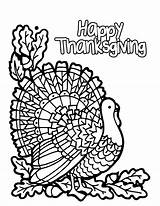 Thanksgiving Coloring Pages Happy Print sketch template