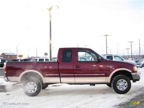 1998 Dark Toreador Red Metallic Ford F250 XL Extended Cab