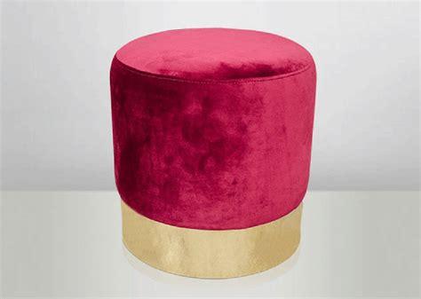 stool  velvet raspberry color  stainless steel gold