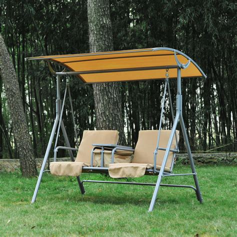outsunny  person outdoor patio porch swing double seat