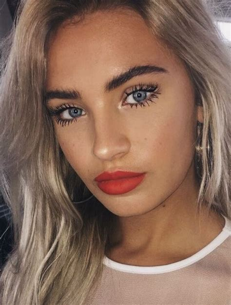 full brows dewy face  bright lips red lips makeup  natural makeup beauty makeup