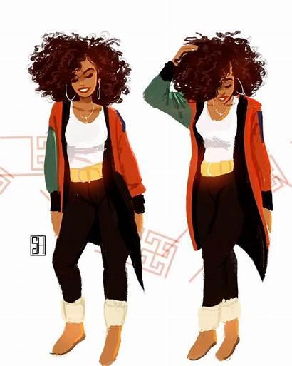 Cartoon Hair Natural Instagram Drawing Character Magic