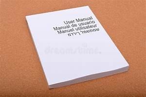 User Manual Book Cover With Multiple Languages Stock Photo