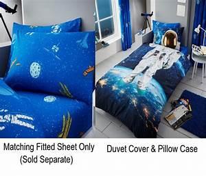 Astronaut Space Kids Boys Single Duvet Quilt Cover ...