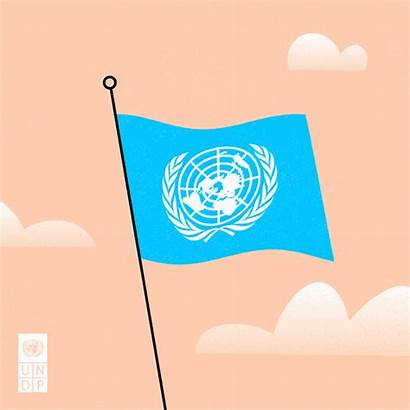 United Nations Flag Giphy Gifs Programme Development