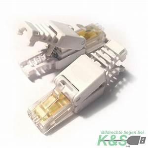 Cat 6 Stecker : rj45 netzwerkstecker ohne werkzeug cat6 lan utp kabel stecker werkzeuglos ebay ~ Frokenaadalensverden.com Haus und Dekorationen