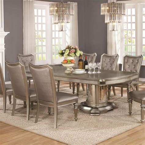 Coaster Danette Double Pedestal Dining Table With Leaf