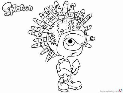 Splatoon Coloring Pages Murch Inkling Printable Boy
