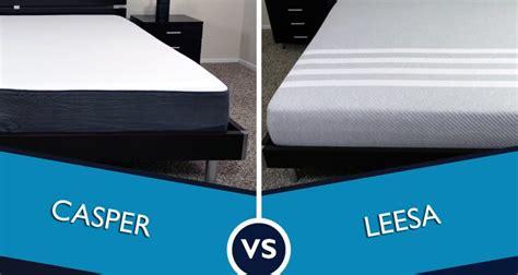 consumer mattress reviews casper vs leesa mattress review sleepopolis