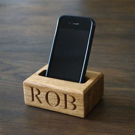 cell phone holder for personalised wooden christmas presents