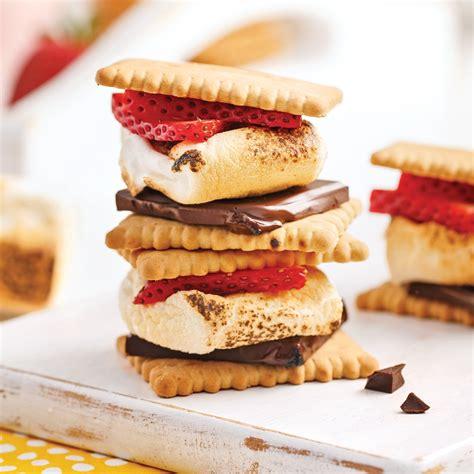 aux fraises cuisine s 39 mores aux fraises recettes cuisine et nutrition