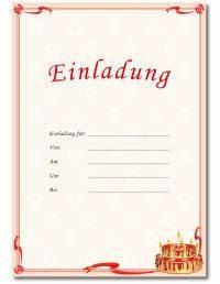 Geburtstagseinladungen Vorlagen, Einladungsvorlagen