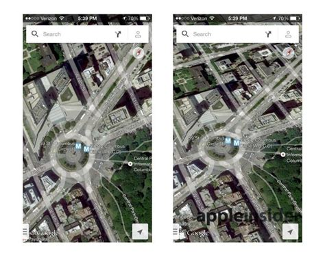 maps view iphone apple s ios 7 3d maps leave earth nokia maps 3d