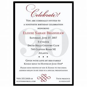classic 90th birthday invitations paperstyle With 90th birthday invites templates