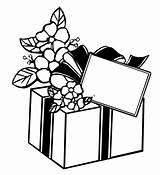 Coloring Gift Gifts Boxes Xmas Para Dibujos Colorear sketch template