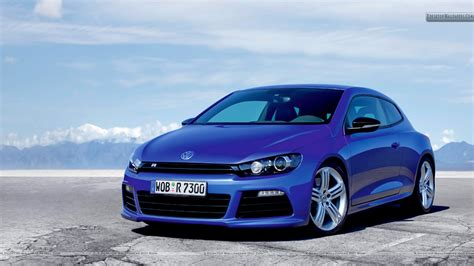 volkswagen car wallpaper volkswagen scirocco r blue car front pose wallpaper