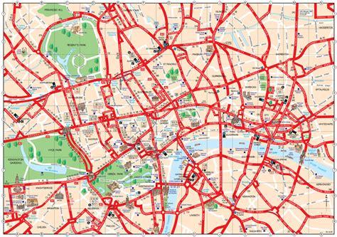 mapa turistico de londres monumentos  passeios