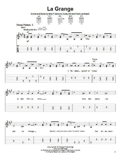 la grange chords and lyrics la grange by zz top easy guitar tab guitar instructor