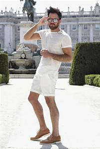 Picture Of relaxed all white look with white shorts and a sheer tee