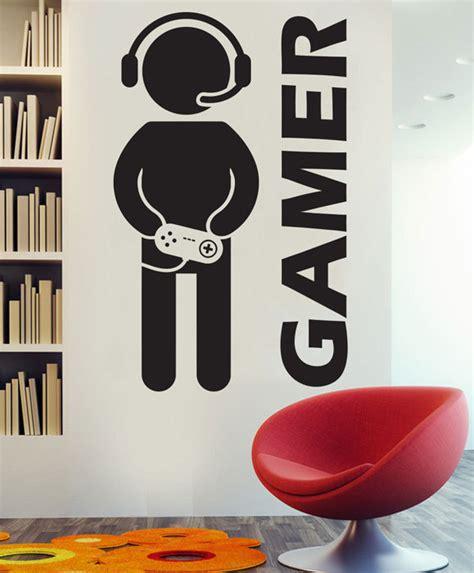 sticker chambre gar輟n aliexpress com acheter vidéo jeu gaming gamer mur decal décor autocollant vinyle stickers muraux pour les garçons chambre de vinyle