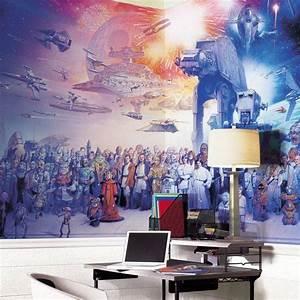 le poster mural comme decoration moderne et design With salle de bain design avec décoration star wars anniversaire adulte