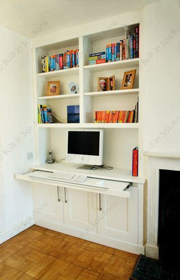 make a desk out of bookshelves this is a genius idea with the pull out desk as it means