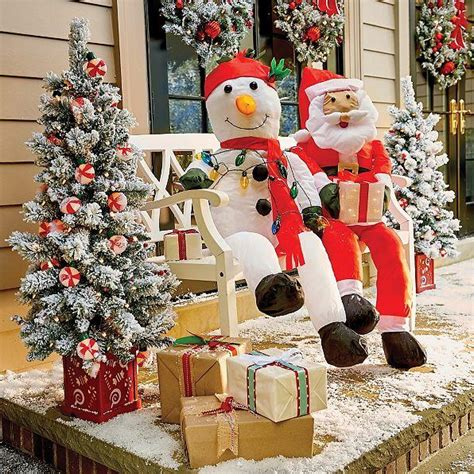 stuffable lighted santa claus or snowman decoration