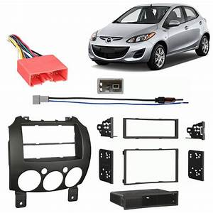 Mazda Mazda2 2011-2014 Multi Din Stereo Harness Radio Install Dash Kit Package