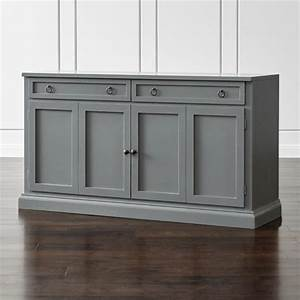 "Cameo 62"" Grey Modular Media Console Crate and Barrel"