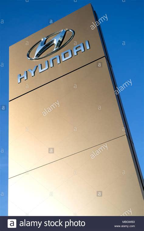 Hyundai Sign In by Hyundai Sign Stock Photos Hyundai Sign Stock Images Alamy