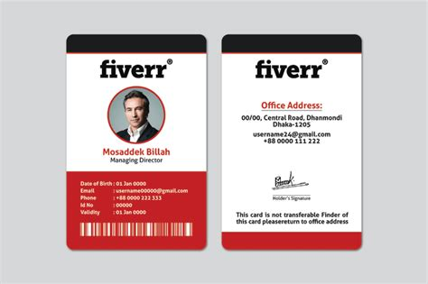 Clean And Professional Id Card Design By Nishi303