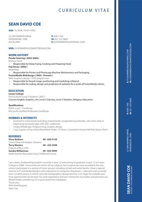 Cv Format by Cv Formats Notes New Cv Format 2013 Simple Cv Format