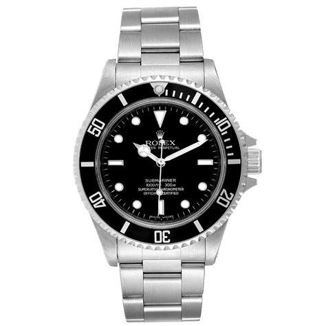 Rolex Black Stainless Steel Submariner 14060 Automatic Men ...