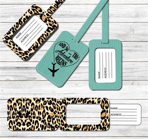 luggage tag pattern svg dxf png template  cricut silhouette diy    adventure