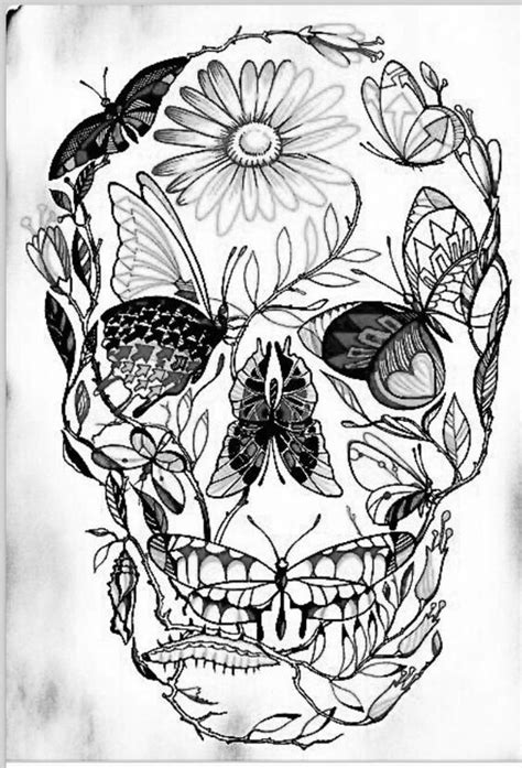 Sugar skull butterfly dont like the style but i like the