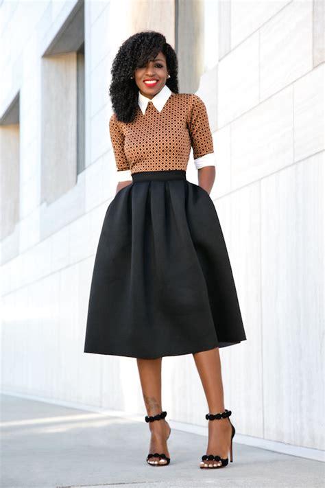 Style Pantry   Button Down Shirt + Midi Dress + Full Midi Skirt
