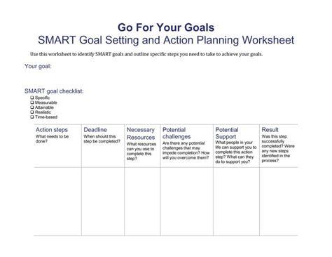 Smart Goals Template 48 Smart Goals Templates Exles Worksheets Free