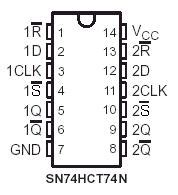 Here The Pinout Hctn Dual Type Flip Flop