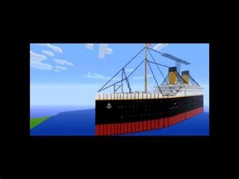 Minecraft Titanic Olympic Britannic