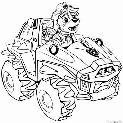 Patrol Coloring Dino Rex Rescue Pages Paw