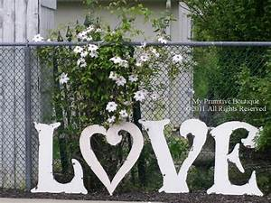 17 best images about wood ideas on pinterest painted With large love letters for wedding