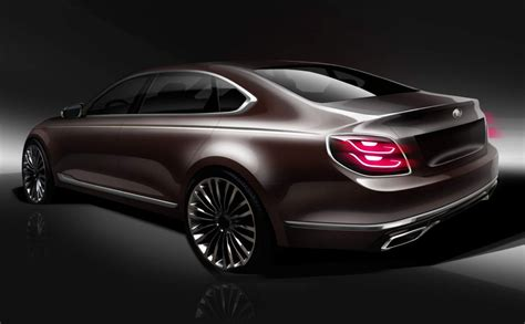 official renderings tease    kia  luxury sedan